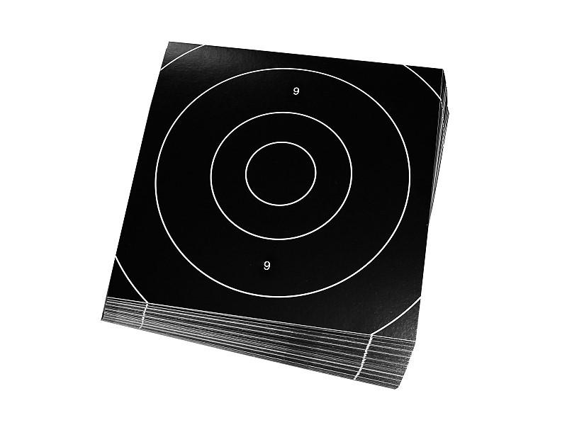 Insert Targets 21x21cm (black) - 50 Pack