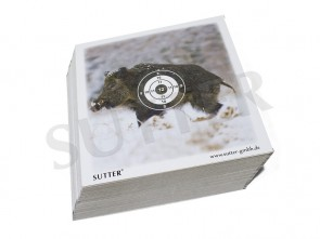 Airgun targets 14x14cm with hunting motive - 100 Targets