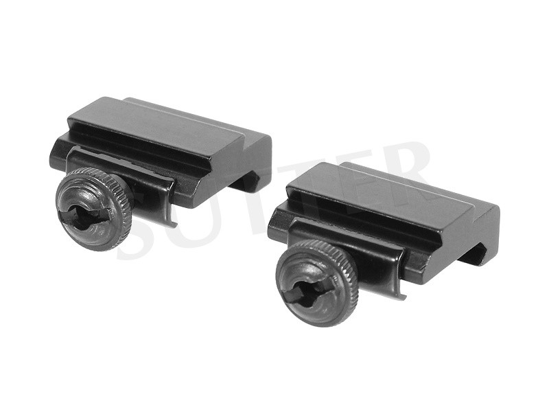 Two Piece Adapter Rail 19-21mm Weaver-and Picatinny rail to 11mm Multi Adapter