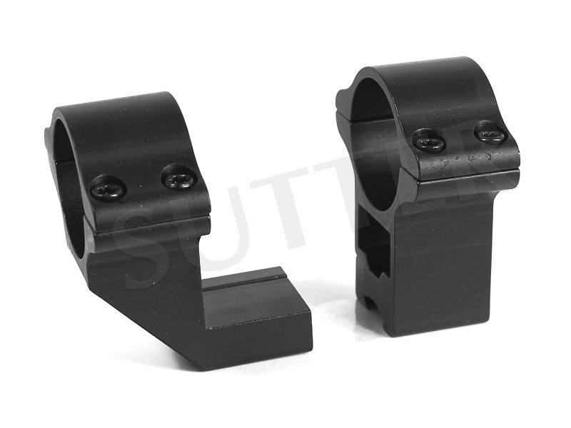 Offset Ring Mounts d=25,4 h=50 Extra Strong for 19-21mm Weaver- and Picatinny rail