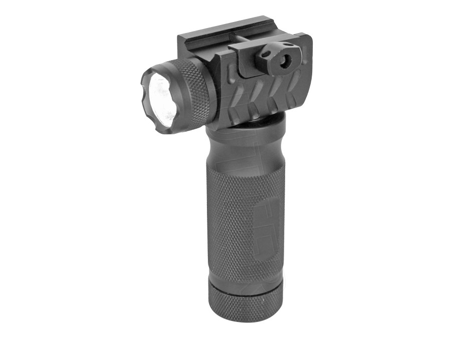 Front Grip / Tactical Folding Grip with LED Flashlight - for 19-21mm Rails