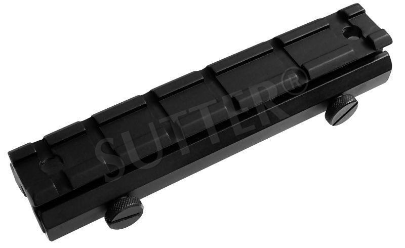 Height Adapter Mounting Rail 130mm, 19-22mm to 21mm