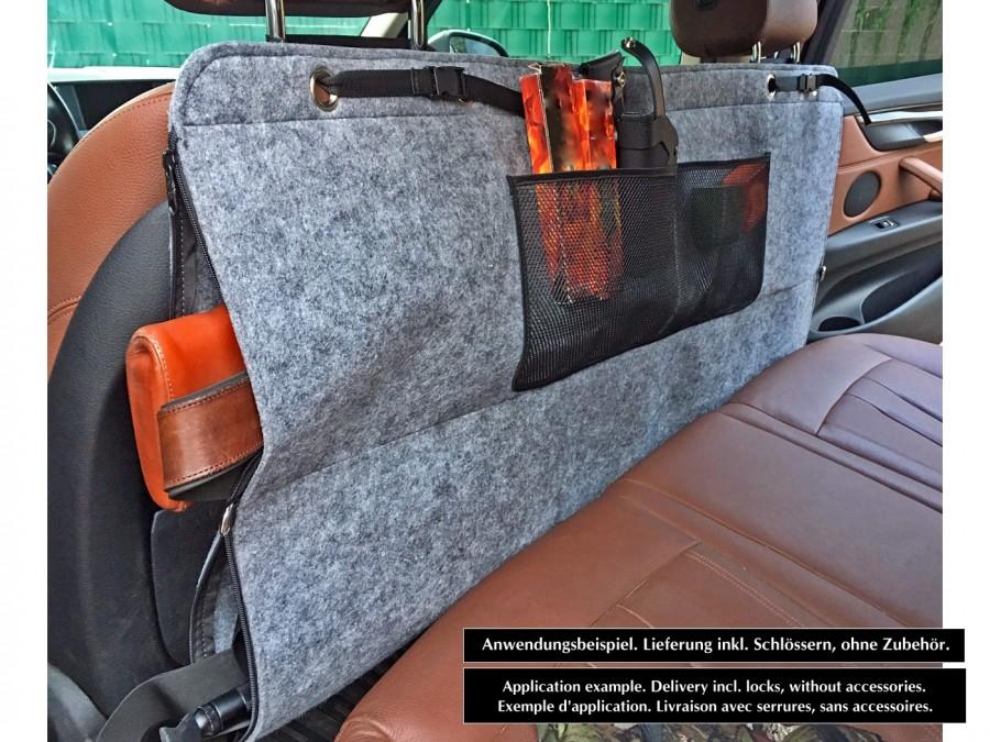 PKW Doppel-Waffentasche aus Filz - Abschließbare Gewehrtasche
