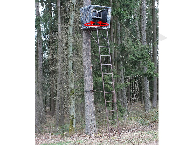 Portable Swivel Seated Ladder Stand & Raised Hide 5,4m