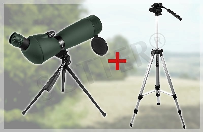 SUTTER® 25-75x75 Angled Spotting Scope Green