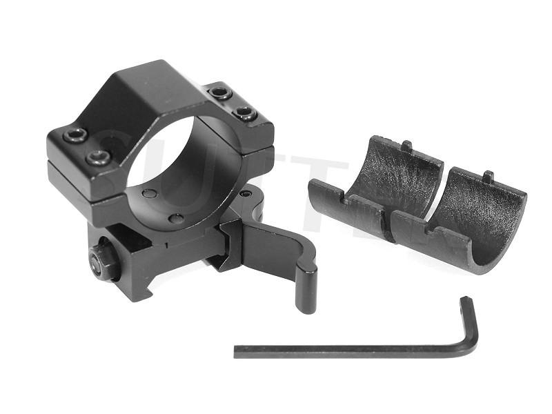 Quick Release Mount - Diameter 25,4mm & 30mm - For 19mm Rails