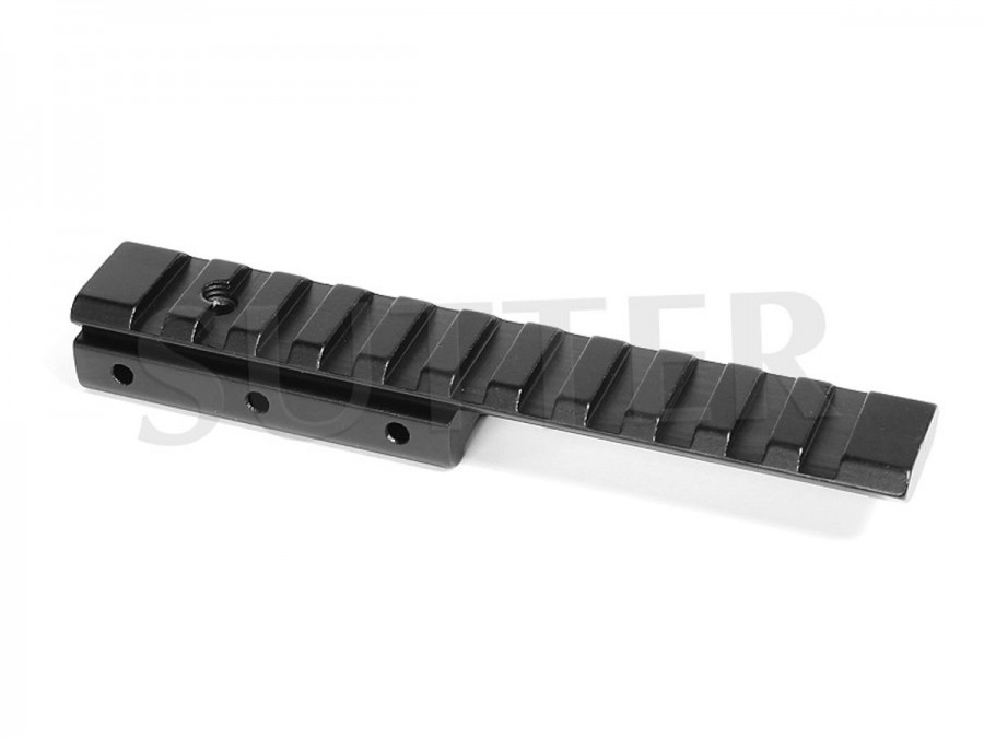 Offset Height Adapter Rail Mount l=125mm, 19-22mm to 21mm
