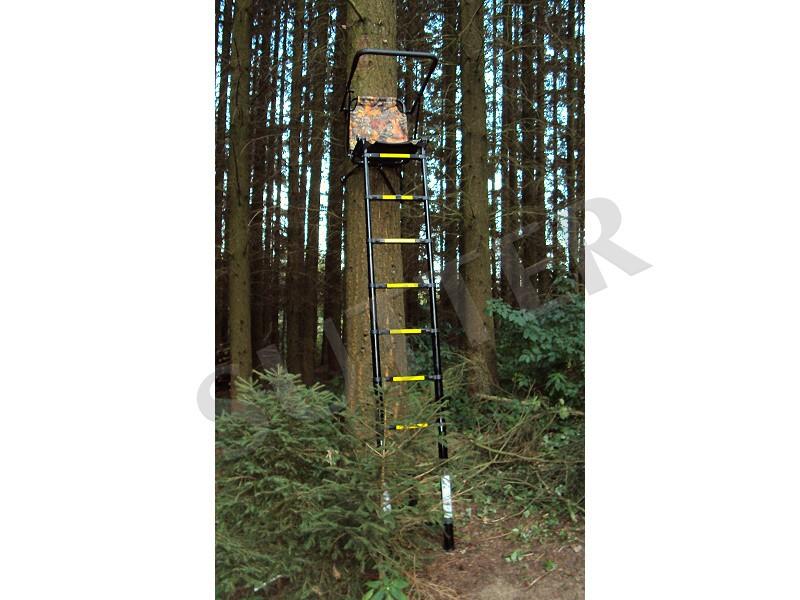 Telescopic Alu Ladder Stand & Raised Hide 3,0m