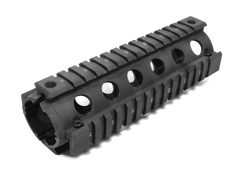 Quad Rail Handguard System 170mm - 4x 21mm rails